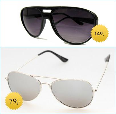c66f0a0ad81c Køb billige Aviator solbriller · Klassiske sølvfarvede pilot solbriller og  sort Aviator solbrille.